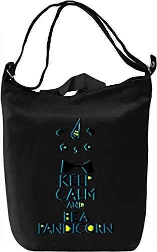 Keep Calm And Be A Pandacorn Borsa Giornaliera Canvas Canvas Day Bag| 100% Premium Cotton Canvas| DTG Printing|