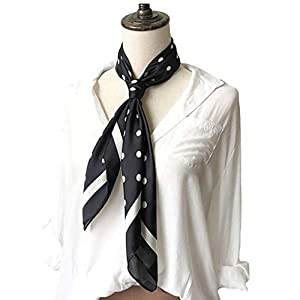 Silk Scarf Square Satin Headscarf Women's Fashion Scarfs Neckerchief Neck Tie
