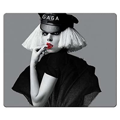 26x21cm 10x8inch Mouse Pad rubber cloth portable fabric surface Lady Gaga