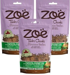 Image of (3 Pack) Zoe Chicken and Parmesan Dog Treats - 5.2 Ounce each