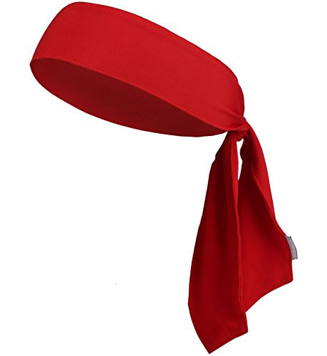 [Head Tie / Tie Headband / Sports Headband - Keep Sweat & Hair Out of Your Face - Ideal for Running, Working Out, Tennis, Karate, Athletics & Pirate Costumes. Performance Stretch & Moisture] (Yup Yups Costume)