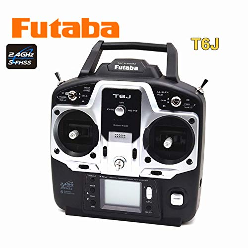 Parts & Accessories Original Futaba T6J 2.4G S-FHSS Remote Control Set with R2006GS Receiver for Helicopter - (Color: Right Hand Throttle)