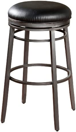American Heritage Billiards Silvano Counter Height Stool, Silver
