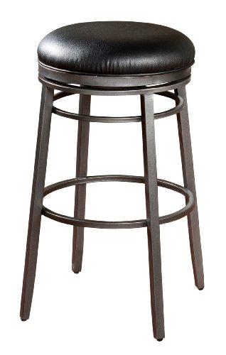 American Heritage Billiards Silvano Bar Height Stool, Silver