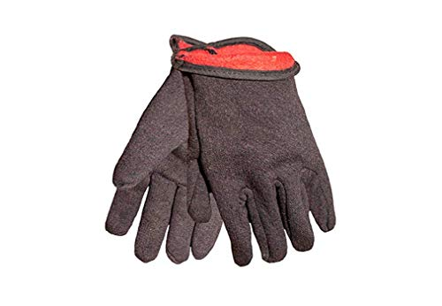 - GF Gloves 4414-144 Brown Jersey Winter Work Gloves with Red Fleece Lining, Large, (case of 144 Pairs)