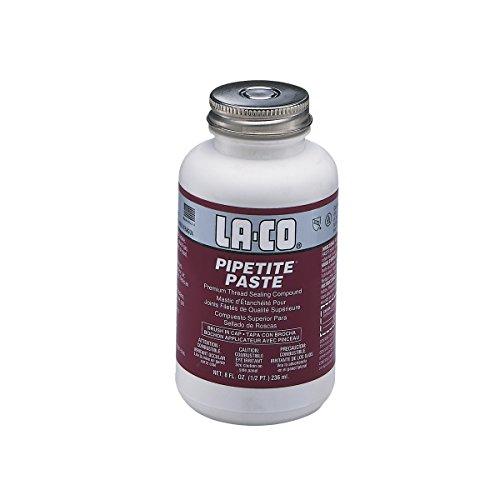 LA-CO PIPETITE Paste Soft Set Thread Compound, 1/2 pt Jar with Brush in Cap ()