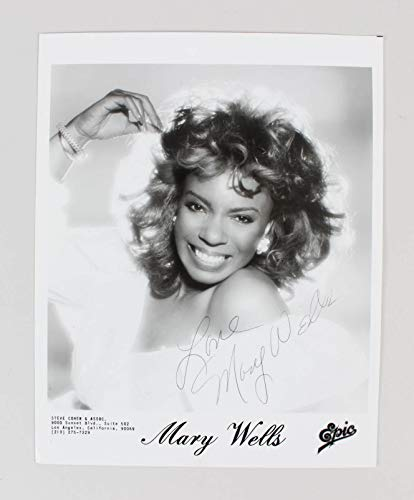 Mary Wells Signed Photo Epic Records - COA