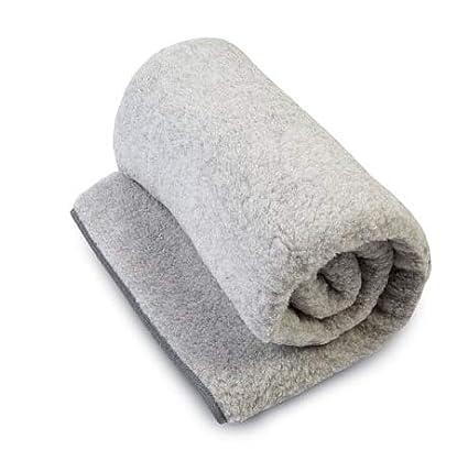 Manta de 100% pura lana Merina MANTA 160 x 200 cm Cálido y Natural Certificada