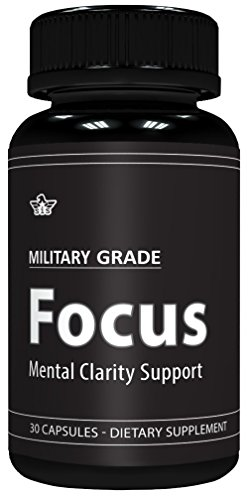 Focus Formula (30 Capsules) Military Grade – Mental Clarity Support – 50mg Ginkgo Biloba Leaf (24% Extract) per Serving – USA Made For Sale