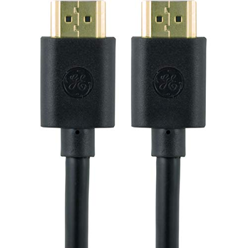 GE High Speed HDMI Cable, Ethernet, 3Ft HDMI, 4K Ultra HD, Full HD 1080p, Lossless Surround Sound, Audio Return Channel, Smart TVs, Roku, Fire Stick, Apple TV, Streaming Devices, Blu Ray, Cable, 34475