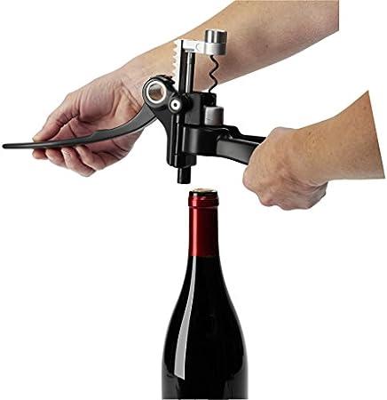 Le Creuset LM250 Set de regalo con sacacorchos profesional y cortacápsulas a juego Extracción del tapón en botella de vino, Poliamida, Negro mate