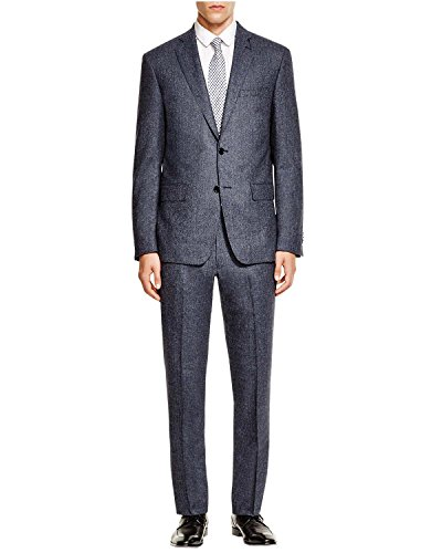 John Varvatos Star USA Luxe Blue Birdseye Wool Suit 40 Regular 40R Pants 33W