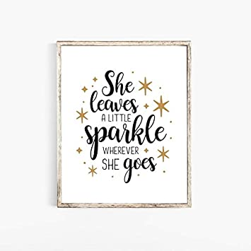 Amazon Com Yilooom She Leaves A Little Sparkle Wherever She