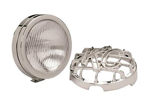 KC HiLiTES 1126 SlimLite Chrome 100w Single Fog Light with ABS Stone Guard - Kc Hilites Stone Guard