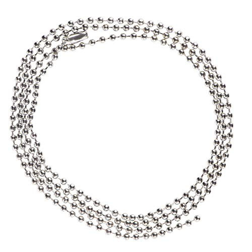 #3 Ball Chain Necklaces - 30-Pack Bead Chain Necklaces with Connectors, Pull Chain, Jewelry Making Chains, Perfect for Accessories, Bracelet, Keychain, Dog Tag Necklace, 0.09 x 29.5 Inches