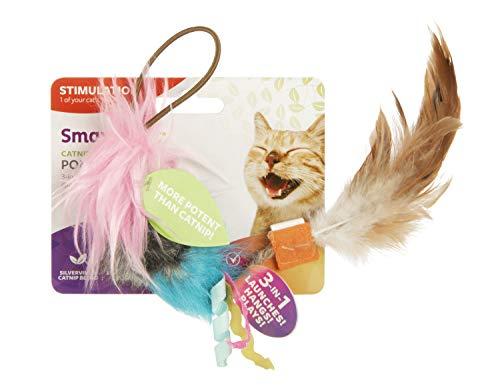 SmartyKat Pom Pom Player Door Dangler Catnip and Silvervine Cat Toy