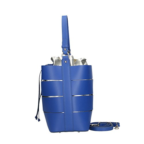 Chicca Borse Bolsa en piel genuino 29x23x14 Cm Azul