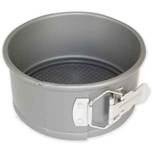 3' Round Cake Pan (PME 6'' x 3'' Round Hard Anodised Springform Aluminium Cake Tin Pan Tray)