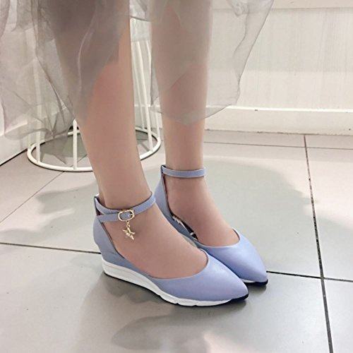 Donne Casual Zanpa 3 blue Zeppa Sandali 6pnZqfw