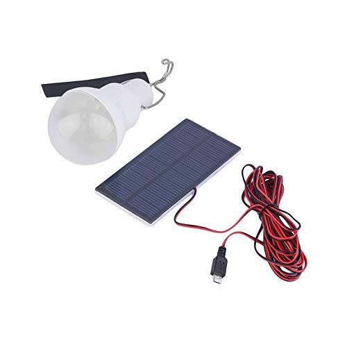 ☀ Dergo ☀ Portable Solar LED Bulb Portable Solar LED Bulb Solar Bulb Lamp Focus With 0.8W Solar Panel For Outdoor Camping ()