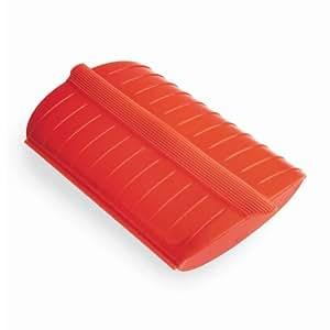 Lékué Estuche de vapor para el microondas, color rojo con una capacidad de 330 ml (1 personas)