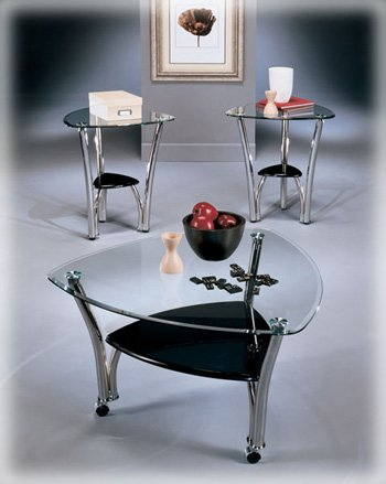 Perfect Contemporary Chrome Occasional Table Set