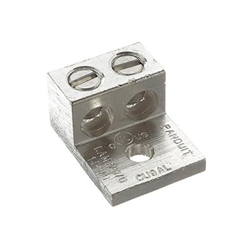 Panduit LAM2A2/0-14-6Y Two Barrel Lug, One Hole, #14 AWG - 2/0 AWG Conductor Size Range, 1/4