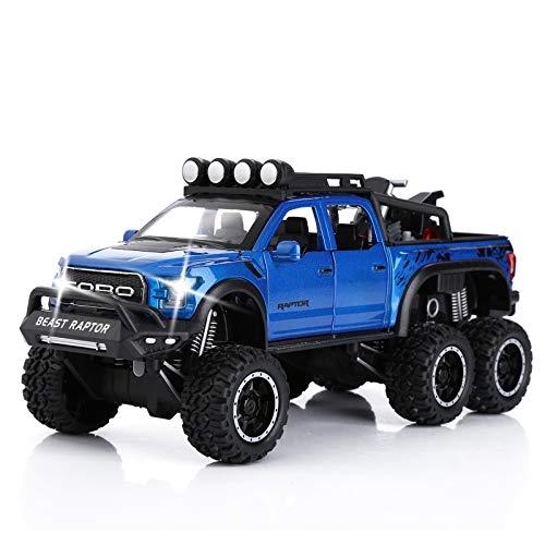 Raptor Pickup Truck Toy Diecast Metal Model Car Toy for Boys 1/24 Scal