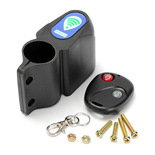 Bike Alarm , LOPEZ Bicycle Wireless Remote Control Vibration Sensor Security Anti-theft Sound Lock Guard Burglar Cycling Alarm