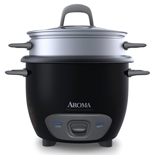 Aroma Housewares 6-Cup (Cooked) Pot-Style Rice Cooker and Food Steamer, Black ARC-743-1NGB (Certified Refurbished)