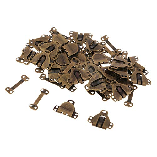 30 Sets Bronze Skirts Trousers Hook and Eye Closures for DIY Clothing Repair ()