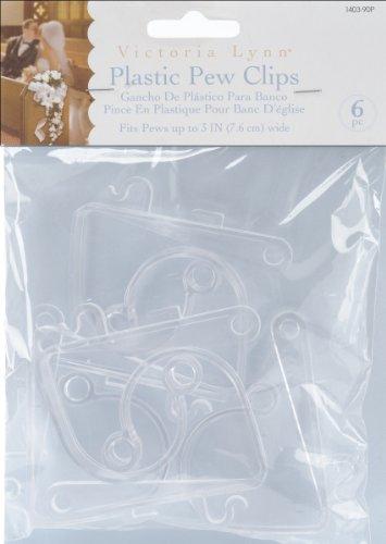 Darice 1403-90P Pew Clip, 6 Per Pack, Opaque Clear ()