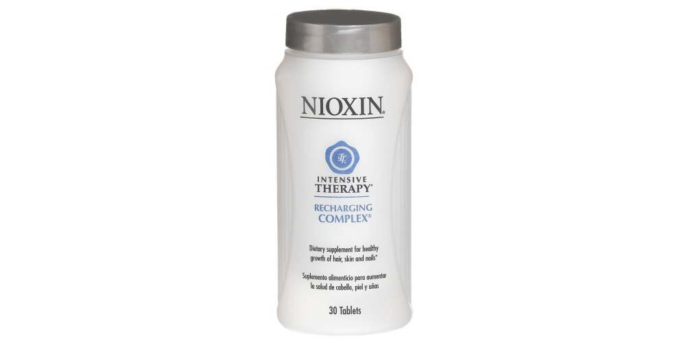 Nioxin Intensive Therapy Recharging Complex 90 Count Dietary Supplement for the Healthy Growth of Hair and to Prevent Hair Loss, Skin and Nails