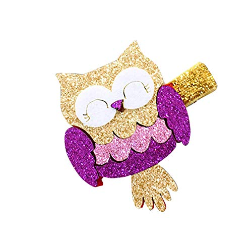 Polytree Shiny Cartoon Flamingo Owl Fruit Shape Hairpin Hair Clips for Teens Toddlers Kids Children ()