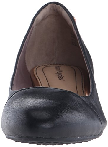 Leather Women's Admire Hush Puppies Wedge Pump Britt Black FZn0AB