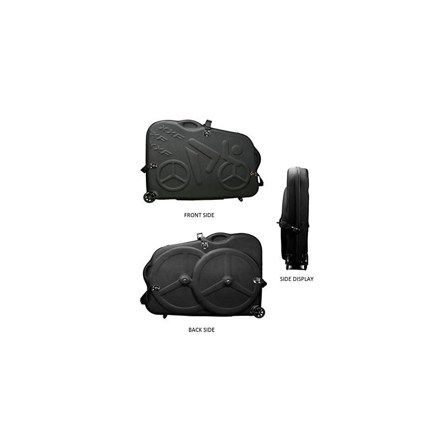 "Hepburn's EVA Bike Travel Case for 26""/700C/27.5"" Mountain Road Bicycle Travel Transport Equipment Black"