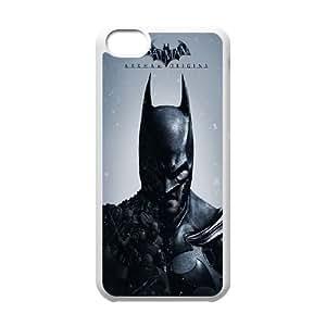 Batman Y5Y4Jb iPod Touch 6 Caso funda blanca B5W6PW Teléfono Funda Caso único para los muchachos