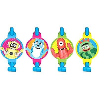 "Amscan Hip and Hop Yo Gabba Blowouts Birthday Party Decorations, 5-1/4 x 3-1/4"", Multi: Toys & Games"
