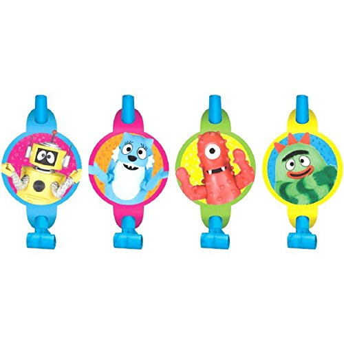 Amscan Hip and Hop Yo Gabba Blowouts Birthday Party Decorations, 5-1/4 x 3-1/4