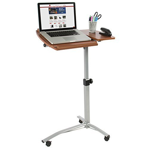 Angle & Height Adjustable Rolling Laptop Desk Cart Over Bed Hospital Table Stand by Best Choice Products by META_AOT
