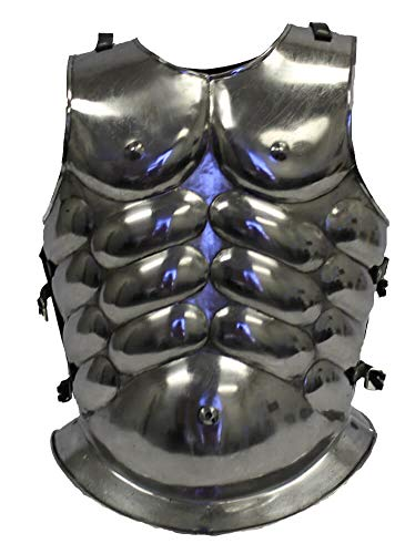 RedSkyTrader Mens Gladiator Breastplate Armor One Size Fits Most Metallic ()