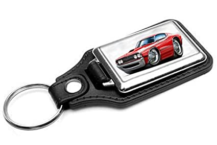 Ford Torino Leather Key Ring New