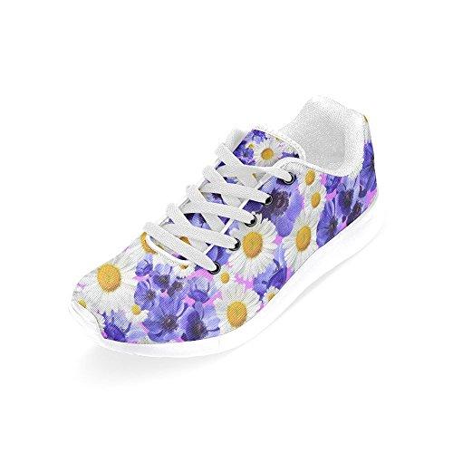 InterestPrint Womens Jogging Running Sneaker Lightweight Go Easy Walking Comfort Sports Athletic Shoes Daisy Flowers