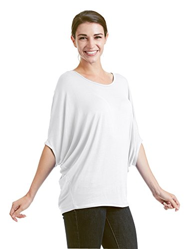 Come Together California CTC WT1073 Womens Lightweight Scoop Neck Half Sleeve Batwing Dolman Top L - Knit Top Batwing