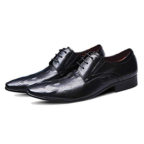 Derby De D'affaires Rouge En Cuir Monsieur Vin Pour Angleterre Chaussures Jaune Fête Black A Noir Souligné Lzmeg Mariage Robe Hommes xzq64nw