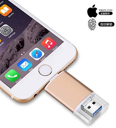 USB Flash Drive USB 3.0 OTG Jump Drive Pen Drive para iPhone/iPad/PC/Android, Almacenamiento Externo USB 3.0 Adaptador Expansión (256.00GB): Amazon.es: Informática