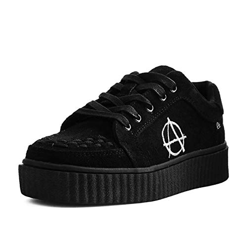 k Creeper Shoes Anarchico Interlacciato u Casbah Nero Donna Camoscio Finto T 4g5qn