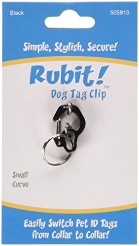 Rubit The Easy Dog Tag Curve Shape Switch Clip, Small, 0.85-Inch Diameter, Black