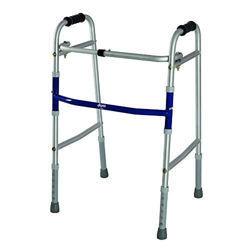 Vissco 2903 Dura Lite Walker For Men, Women, Adults, Patients | Foldable, Light Weight & Height Adjustable Walking…