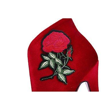 Bout boîtes Talon Femme Botte red 4U® Combat Hiver Aiguille Bottine Demi Chaussures Bottes Pour Tissu Mariage Automne de Best Soirée rond Evénement amp; B7Ywvqq5